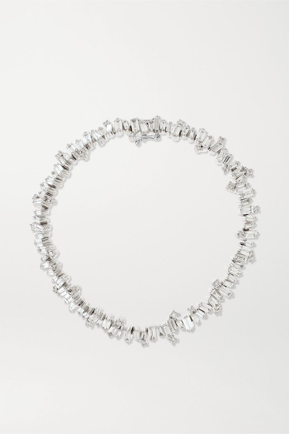 Suzanne Kalan Bracelet rivière en or blanc 18 carats et diamants Fireworks