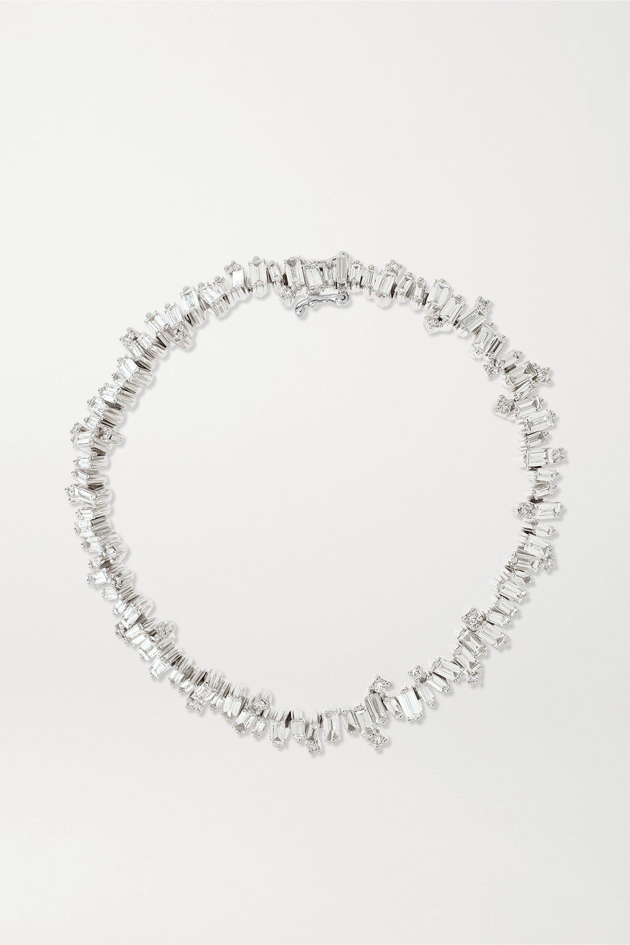 Suzanne Kalan Fireworks 18-karat white gold diamond tennis bracelet