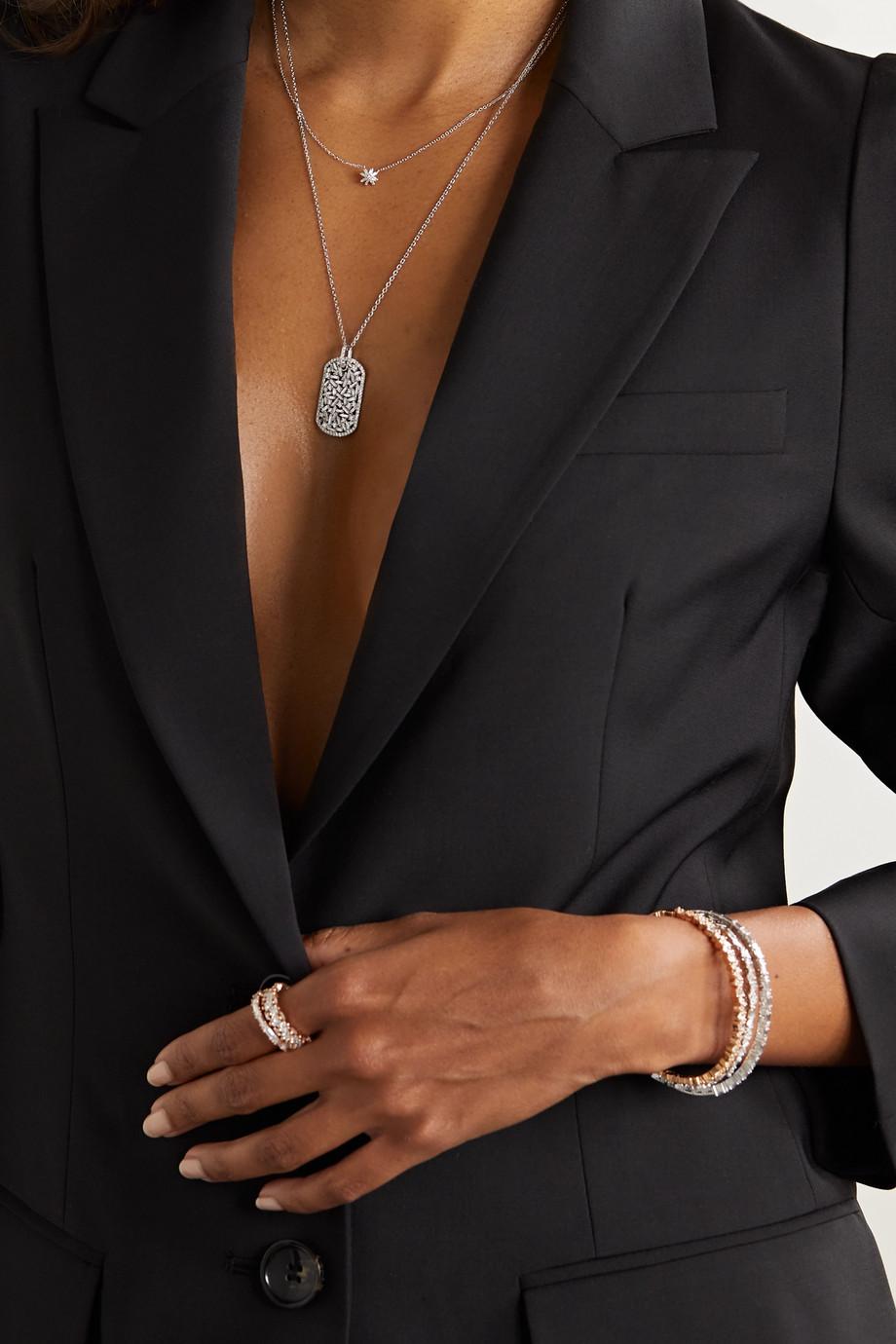 Suzanne Kalan Collier en or blanc 18carats et diamants