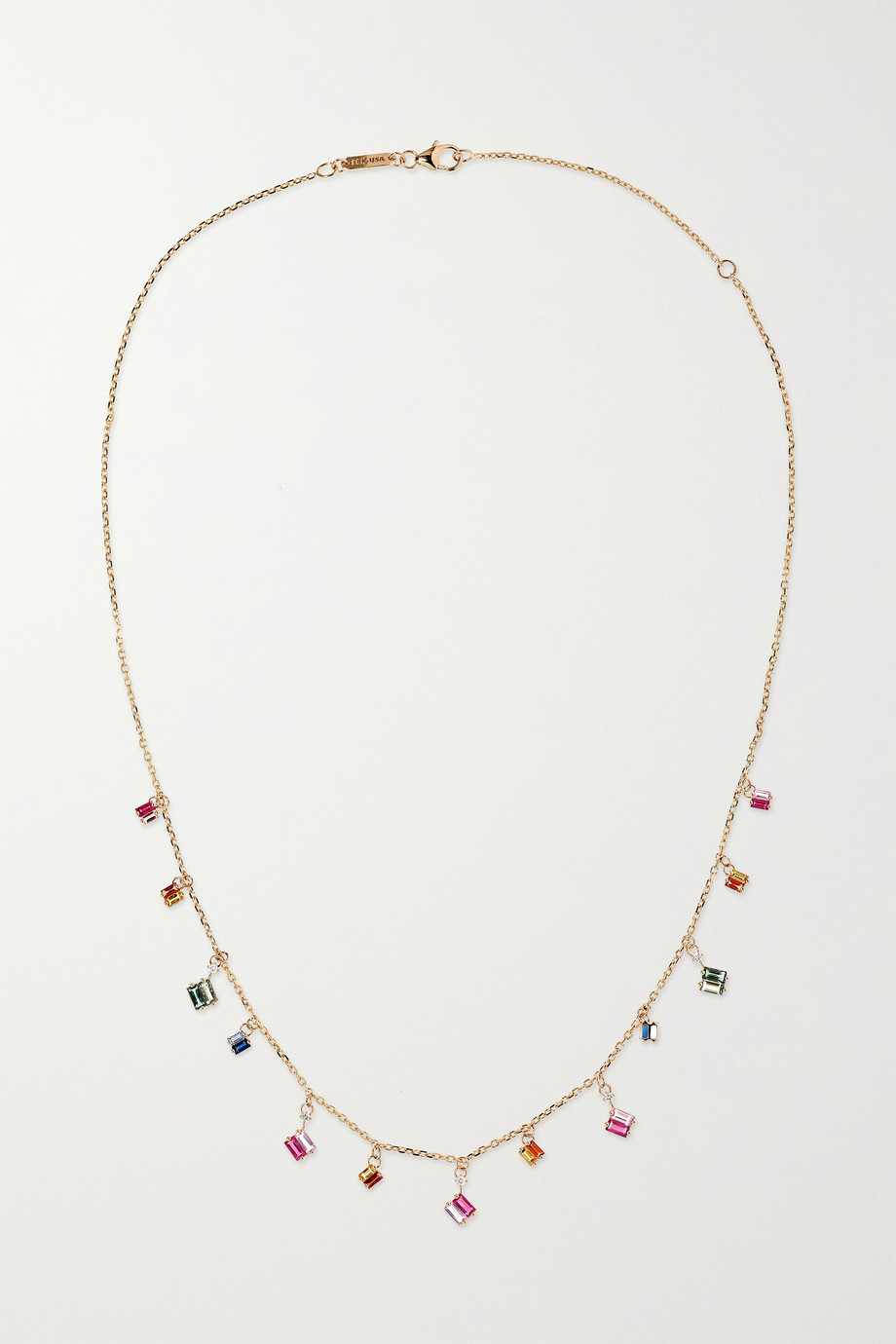 Suzanne Kalan | 18-karat rose gold, sapphire and diamond necklace | NET-A-PORTER.COM
