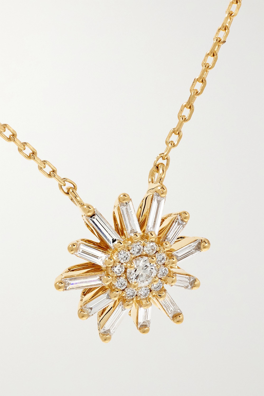 Suzanne Kalan Kette aus 18 Karat Gold mit Diamanten