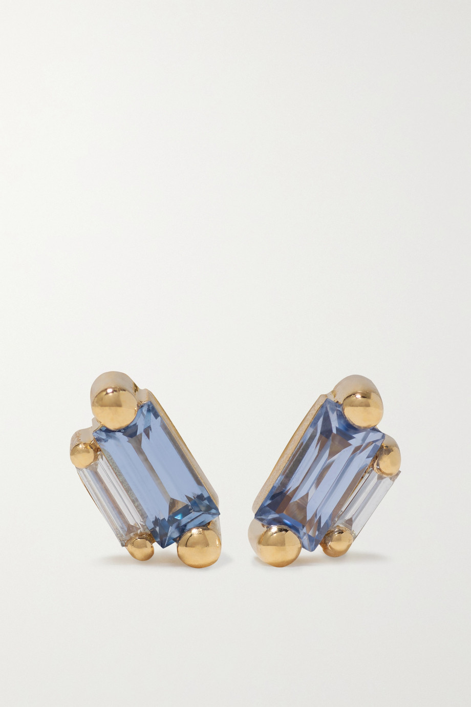 Suzanne Kalan 18-karat gold, sapphire and diamond earrings