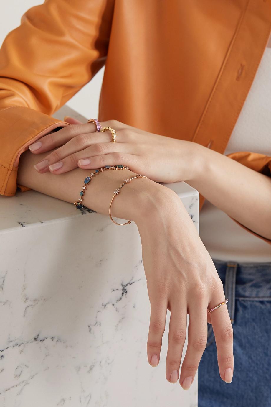 Suzanne Kalan 18-karat rose gold, sapphire and diamond ring