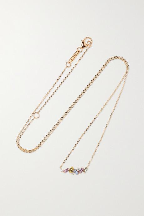 Rose gold 18-karat rose gold, sapphire and diamond necklace   Suzanne Kalan JTeddG