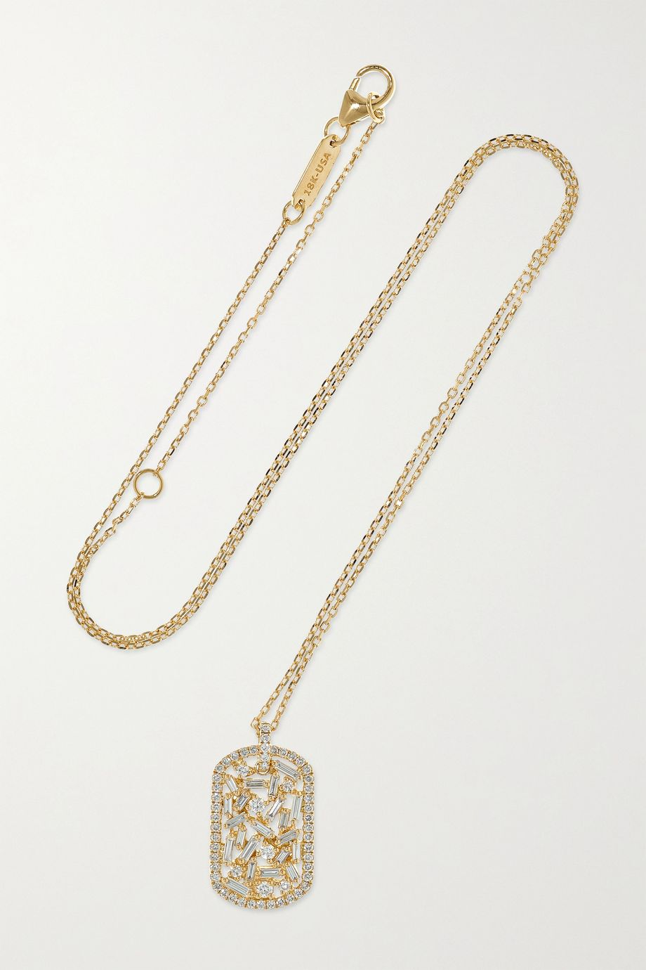 Suzanne Kalan 18-karat gold diamond necklace