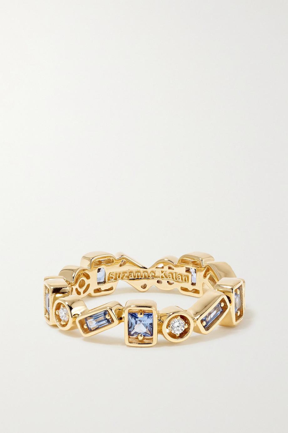 Suzanne Kalan 18-karat gold, sapphire and diamond ring