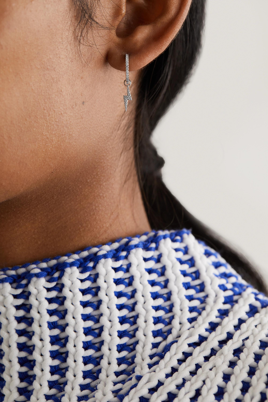 MARIA TASH Eternity + Lightning Bolt 9.5mm 18-karat white gold diamond earring