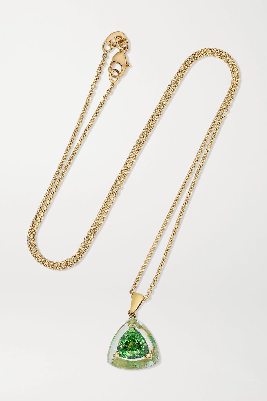 Boghossian Kette aus 18 Karat Gold mit Aquamarin und Tsavorit