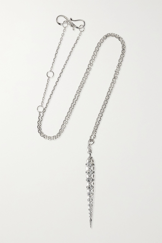 Boghossian Merveilles Icicle 18-karat white gold diamond necklace