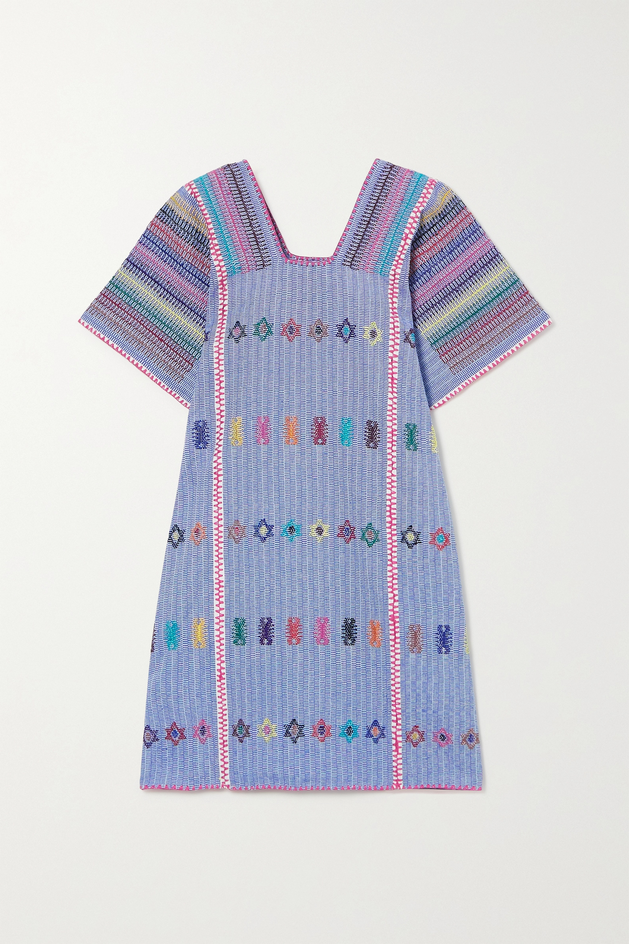 Pippa Holt Embroidered striped cotton huipil