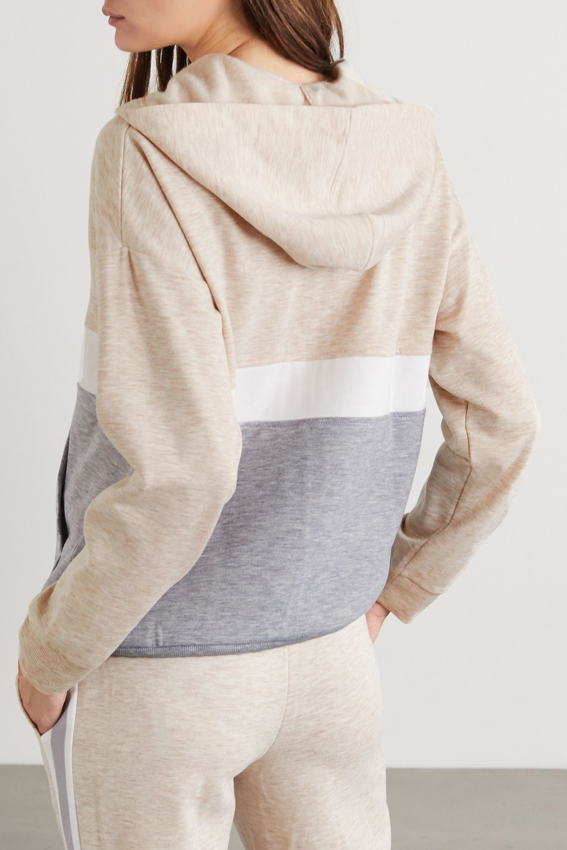 DKNY 拼色弹力平纹布帽衫