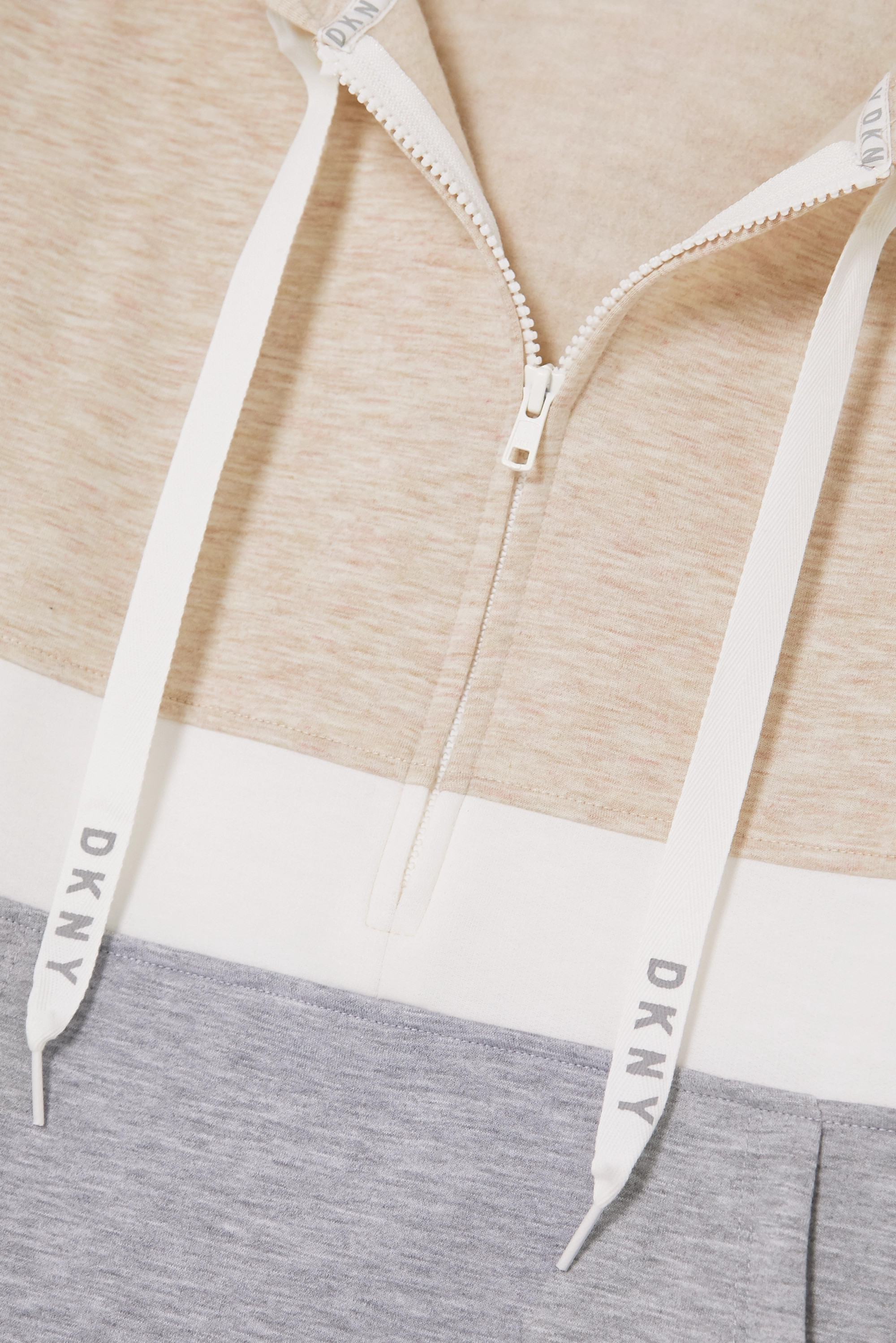 DKNY Color-block stretch-jersey hoodie