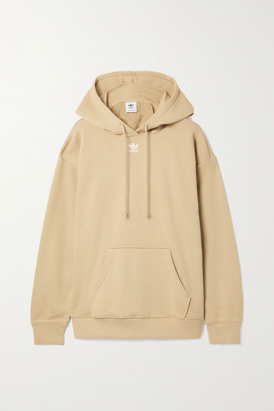 adidas Originals French cotton-blend terry hoodie