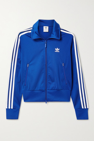 Adidas Originals FIREBIRD STRIPED TECH-JERSEY TRACK JACKET