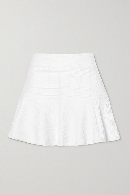 L'Etoile Sport Tennisrock aus strukturiertem Stretch-Jersey mit Volant
