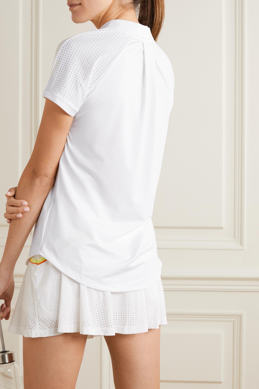 L'Etoile Sport Breezy Polohemd aus Stretch-Jersey mit Mesh-Besatz
