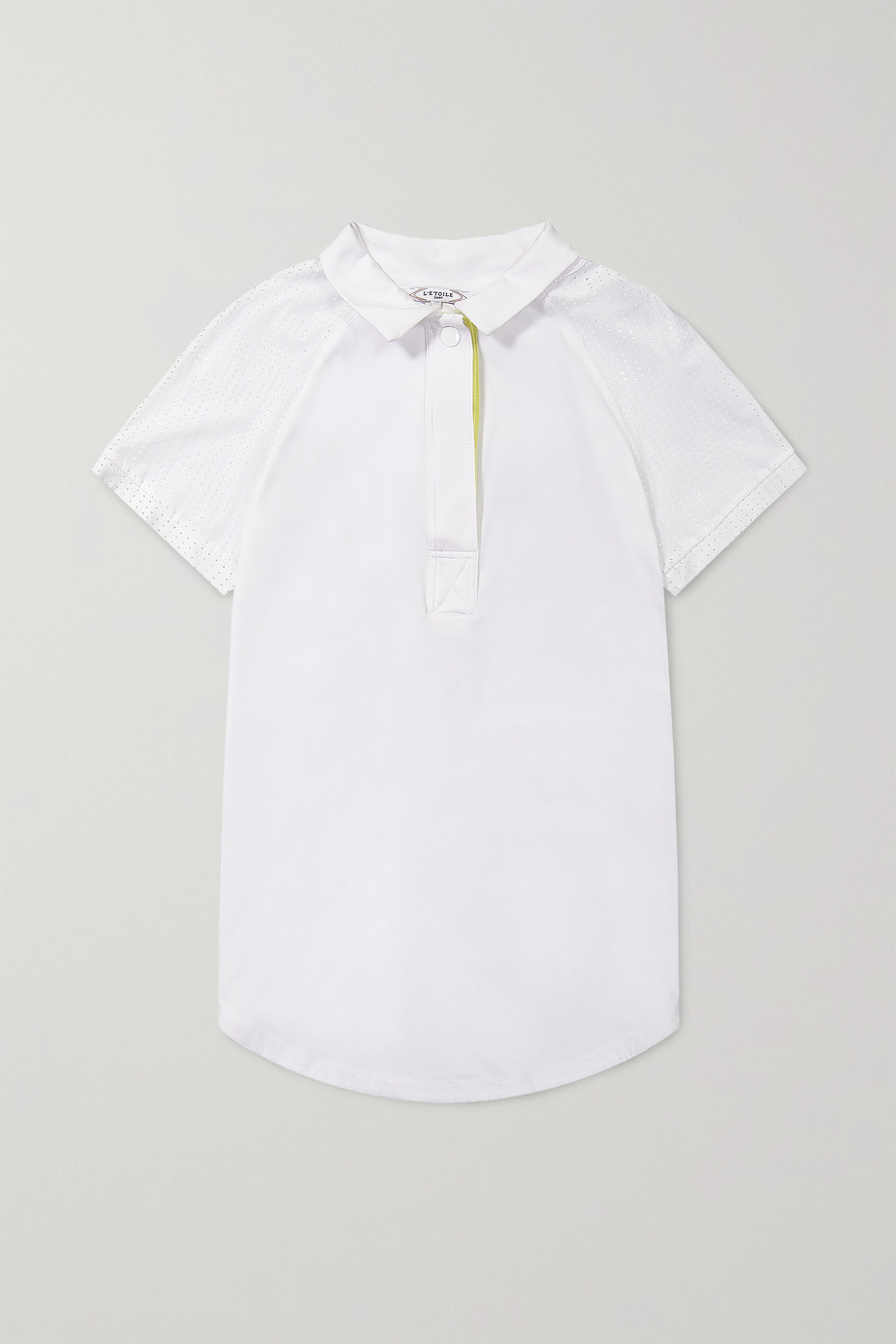 L'Etoile Sport Breezy mesh-trimmed stretch-jersey polo shirt