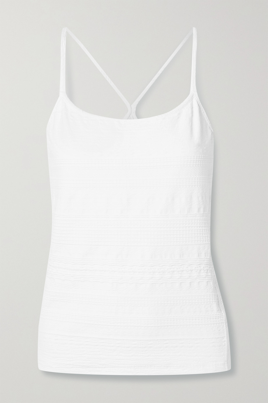 L'Etoile Sport Textured stretch-jersey tank