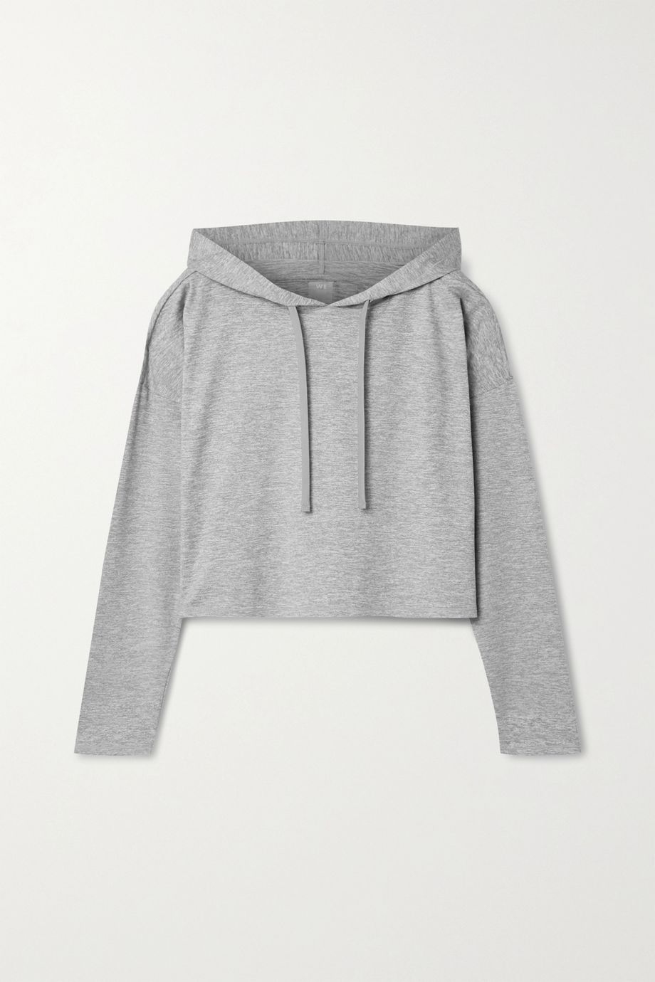 We Over Me The Zen cropped stretch-jersey hoodie
