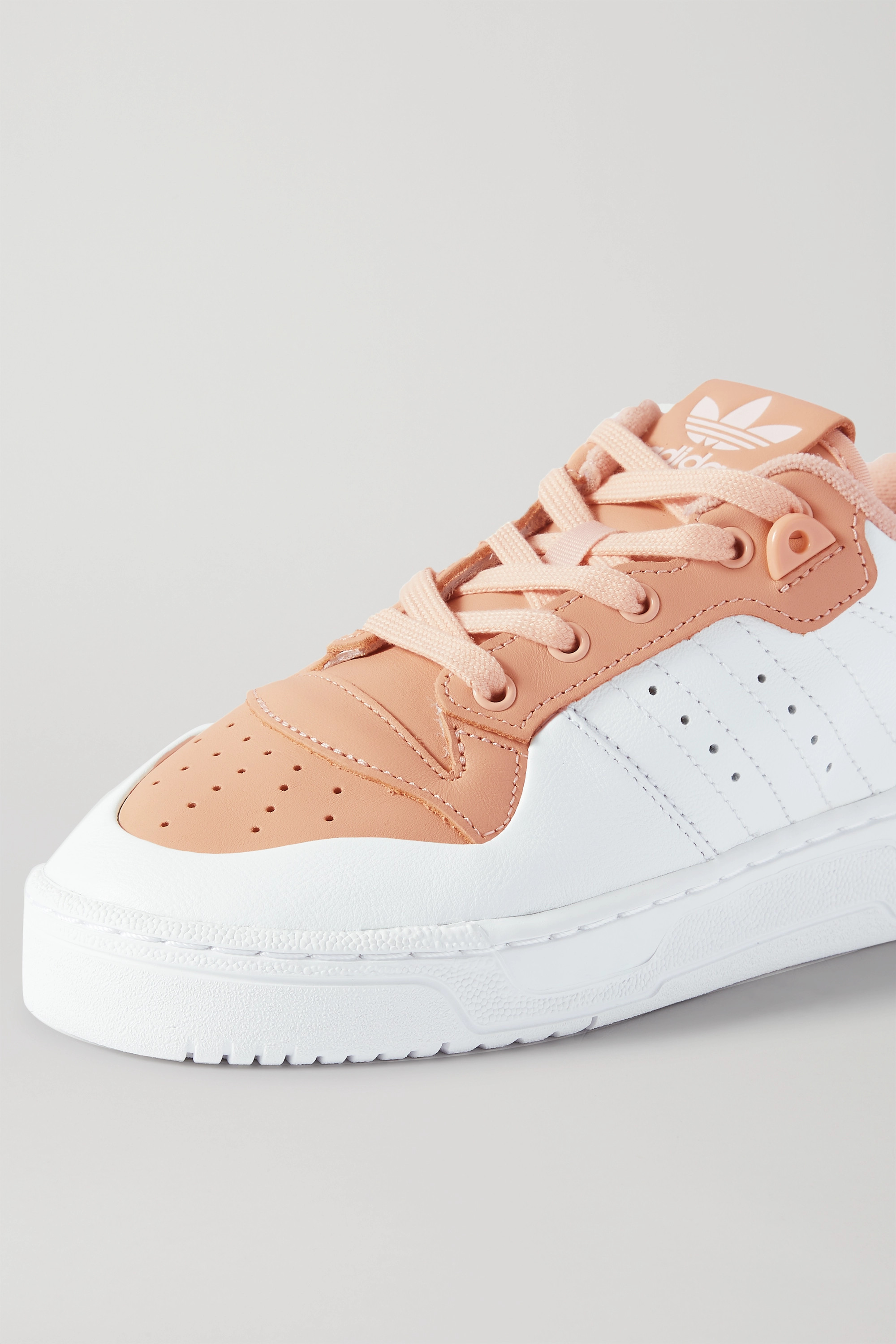adidas Originals Rivalry Low two-tone leather sneakers