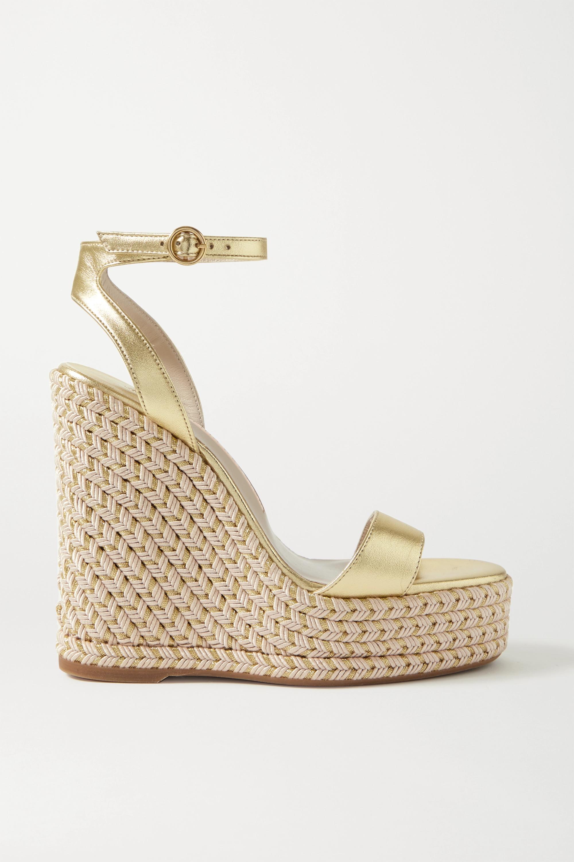 Sophia Webster Lucita metallic leather espadrille wedge sandals