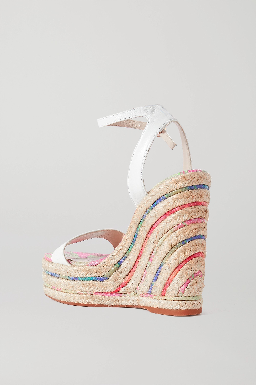 Sophia Webster Lucita leather espadrille wedge sandals
