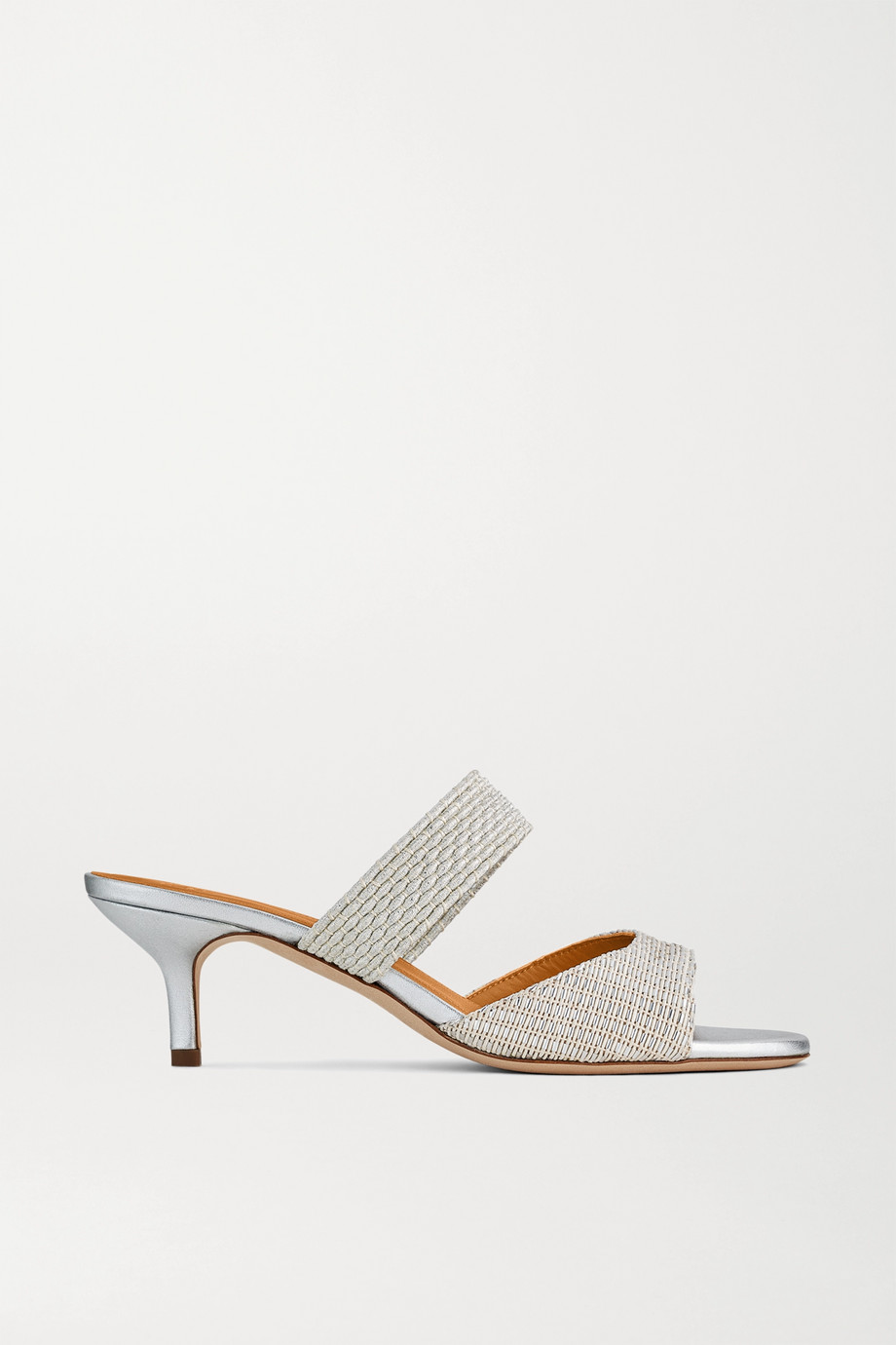 Malone Souliers Milena 45 cord-trimmed Lurex mules