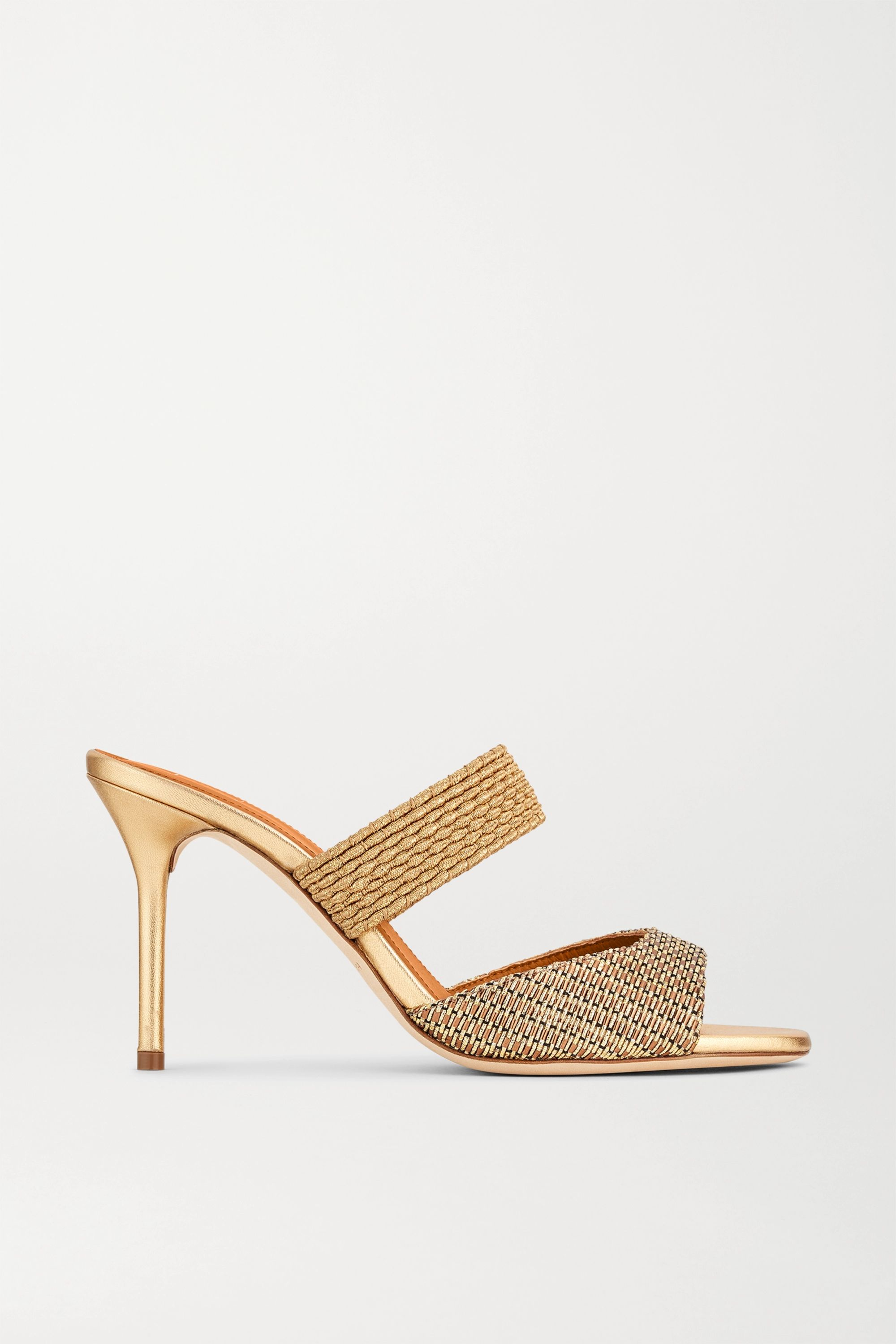 Malone Souliers Milena 85 cord-trimmed Lurex mules