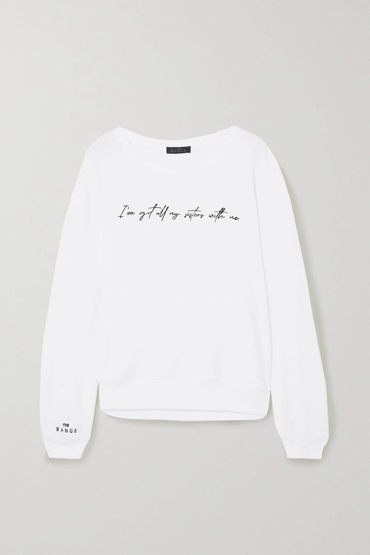 The Range + International Women's Day embroidered cotton-blend terry sweatshirt