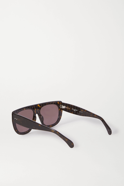 Alaïa D-frame tortoiseshell acetate sunglasses