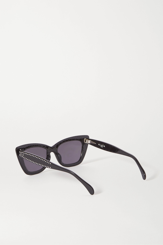 Alaïa Cat-Eye-Sonnenbrille aus Azetat mit Nieten