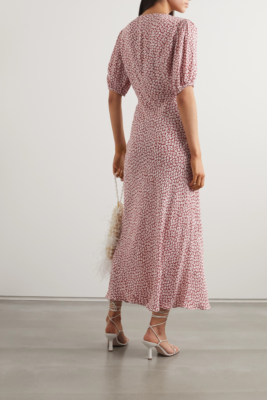 RIXO Poppy printed crepe midi dress