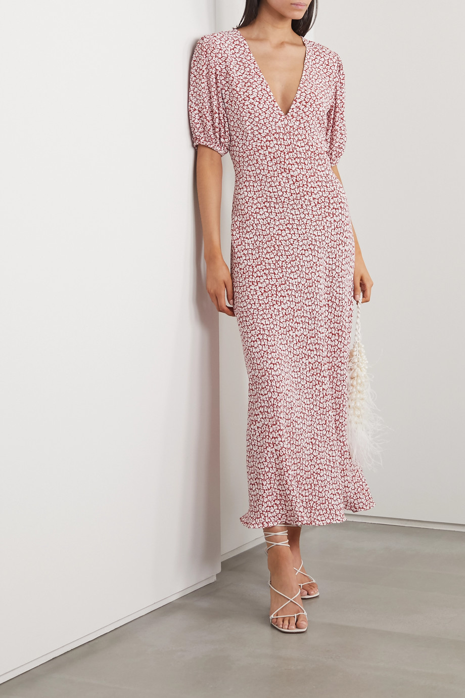 RIXO Poppy printed crepe midi dress