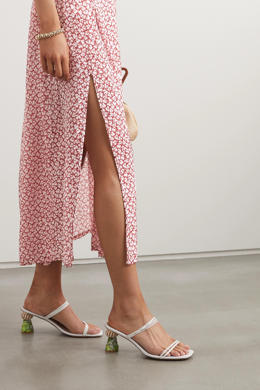 RIXO Georgia pleated printed modal midi skirt