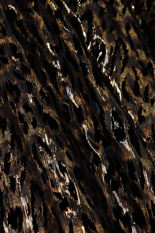 Redemption Metallic flocked silk-blend chiffon kaftan