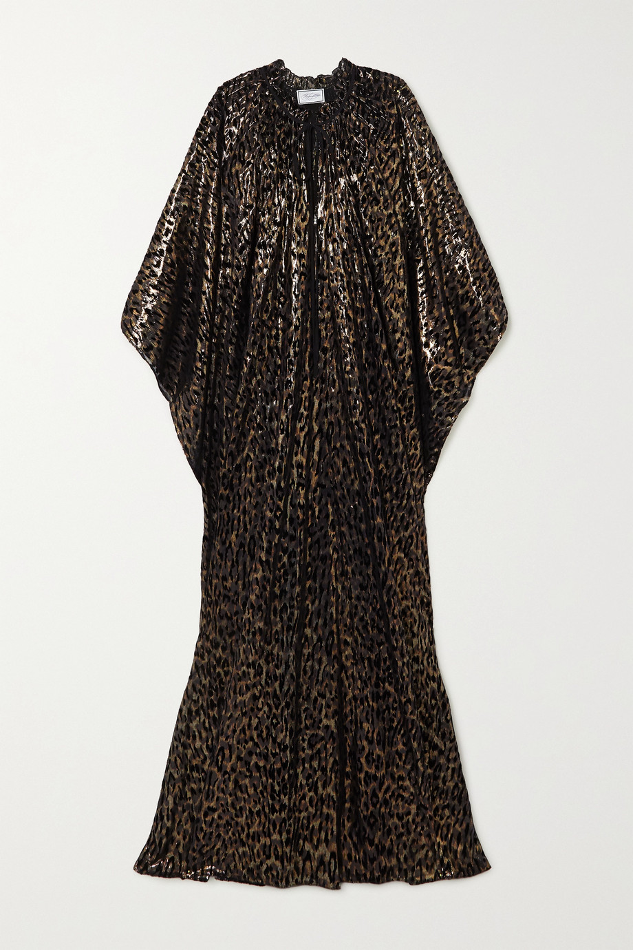 Redemption Metallic flocked silk-blend chiffon kaftan