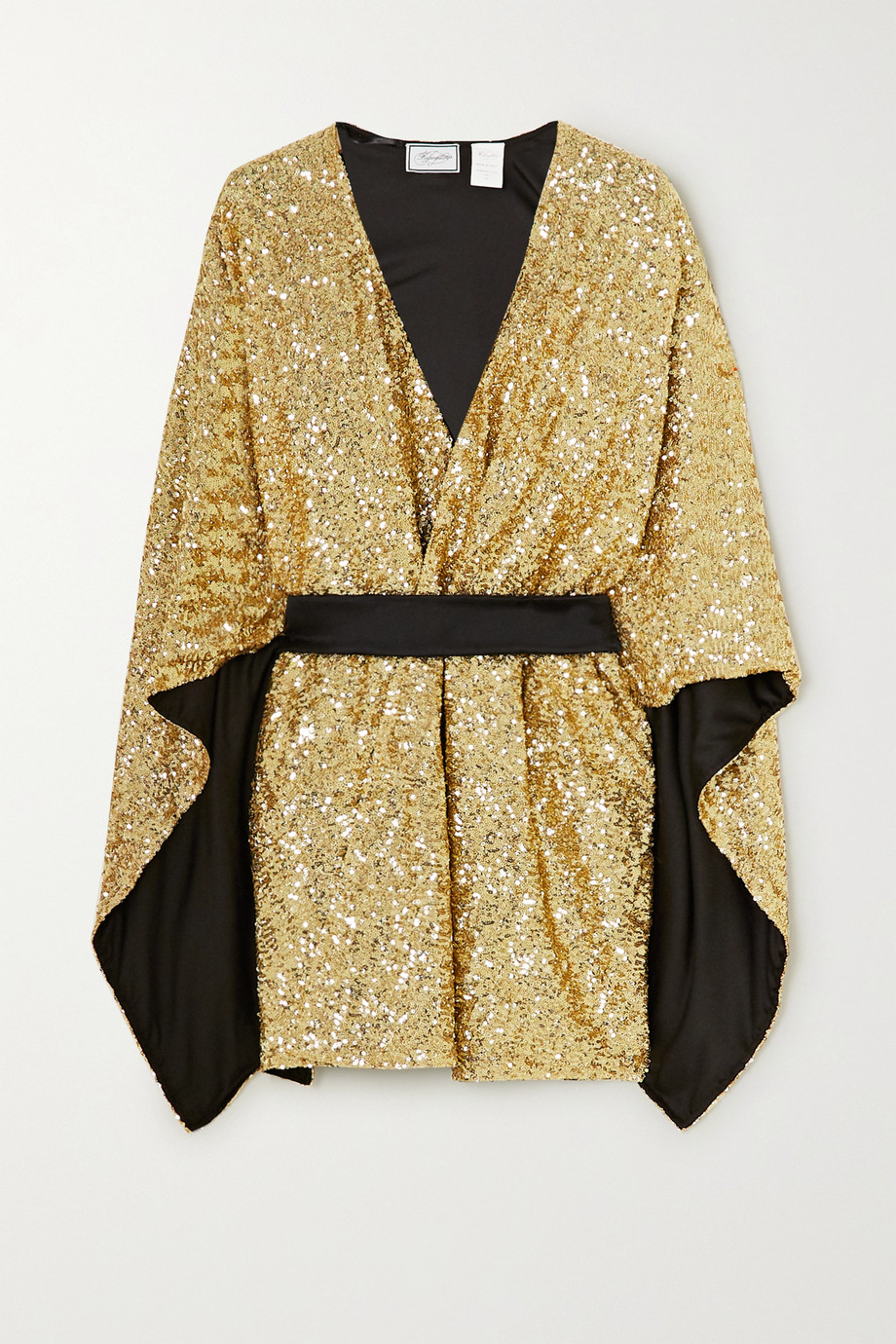 Redemption Belted sequined cady kaftan