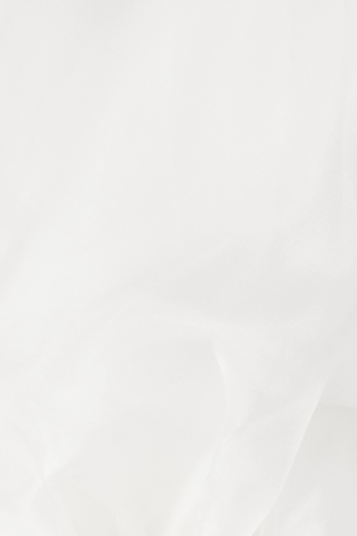Cushnie Off-the-shoulder cady and silk-organza top