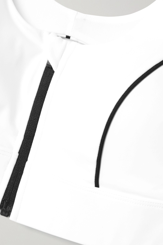 White Decibel Cutout Stretch Sports Bra | All Access