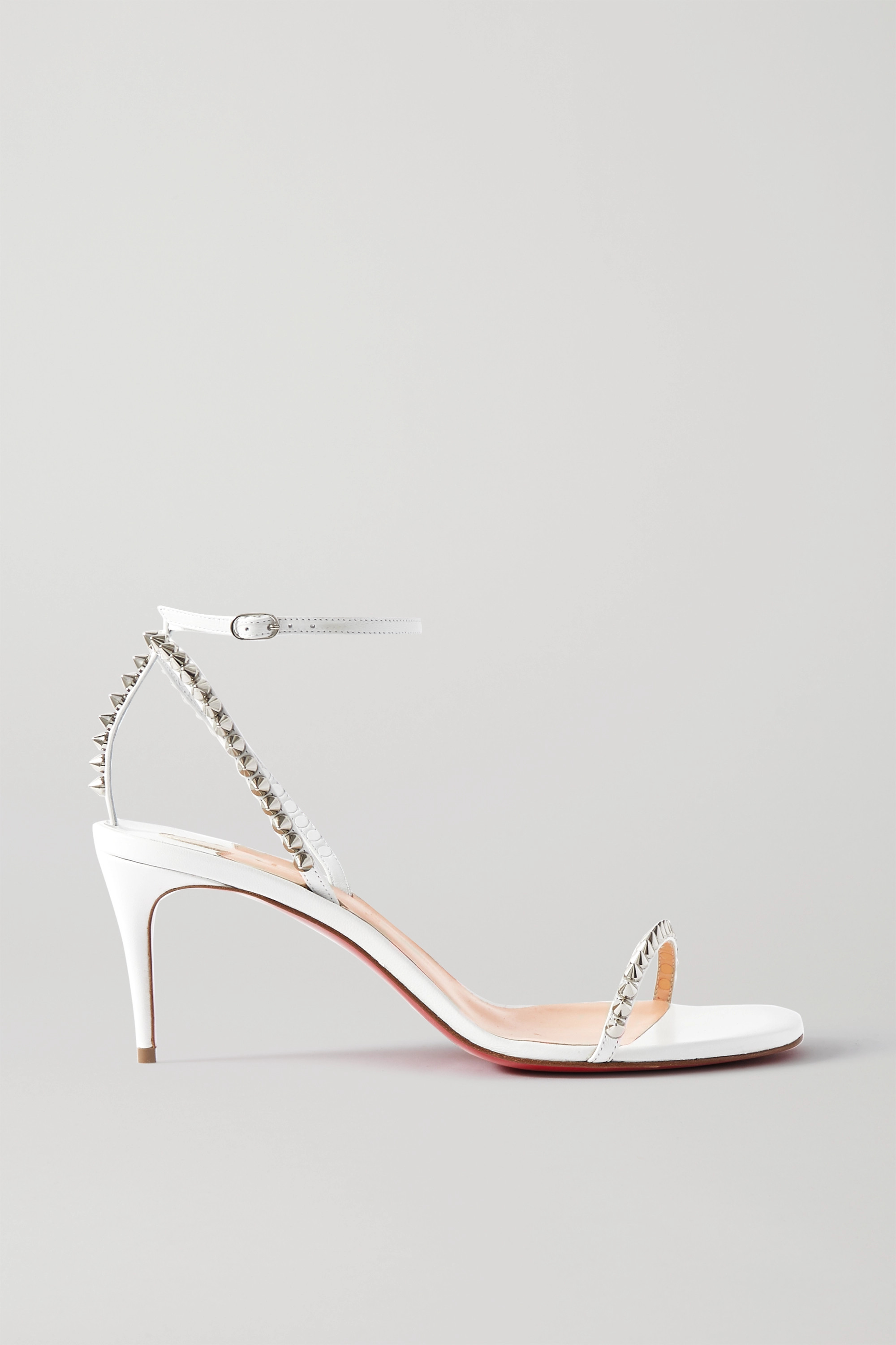White So Me 70 studded leather sandals