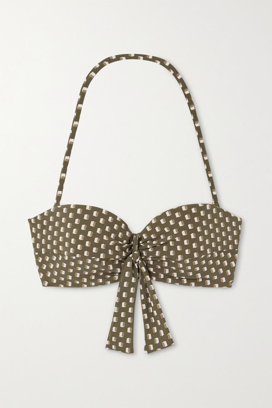 Evarae Chiara knotted printed bikini top