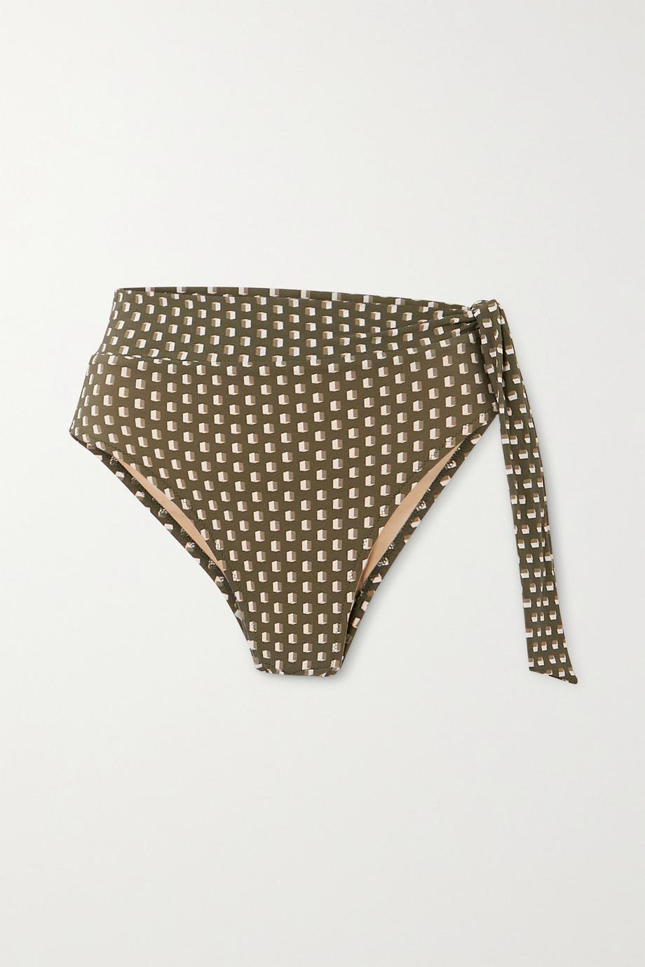 Evarae Yasmeen knotted printed bikini briefs