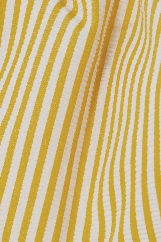 Evarae Regan striped seersucker bikini top