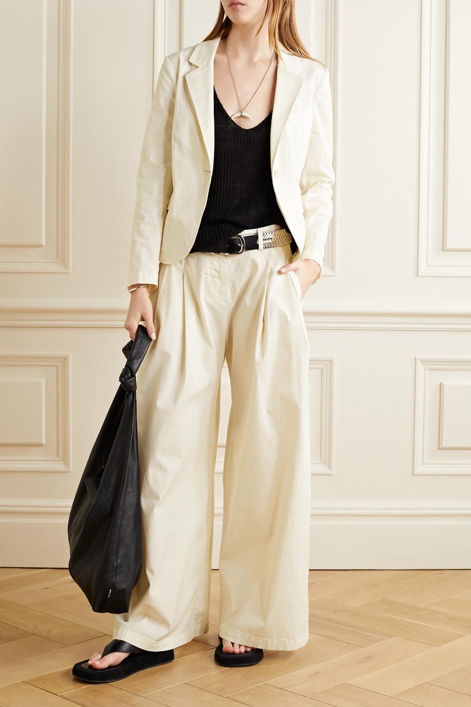 Nili Lotan Brad cropped cotton-blend twill blazer