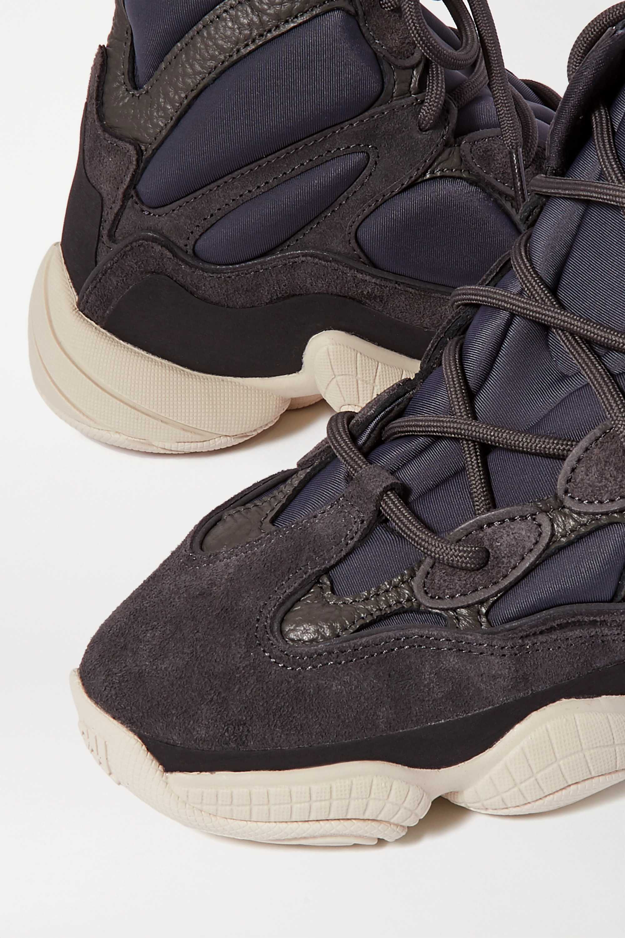 Yeezy 500 High suede, textured-leather