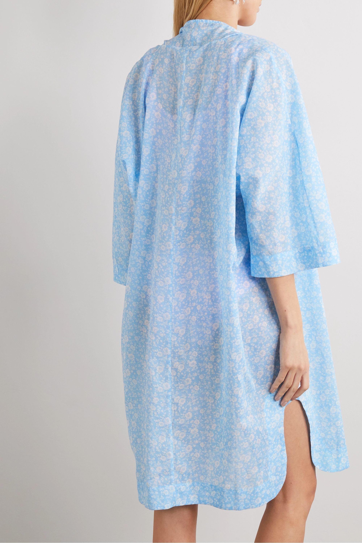 GANNI Floral-print cotton-voile kaftan