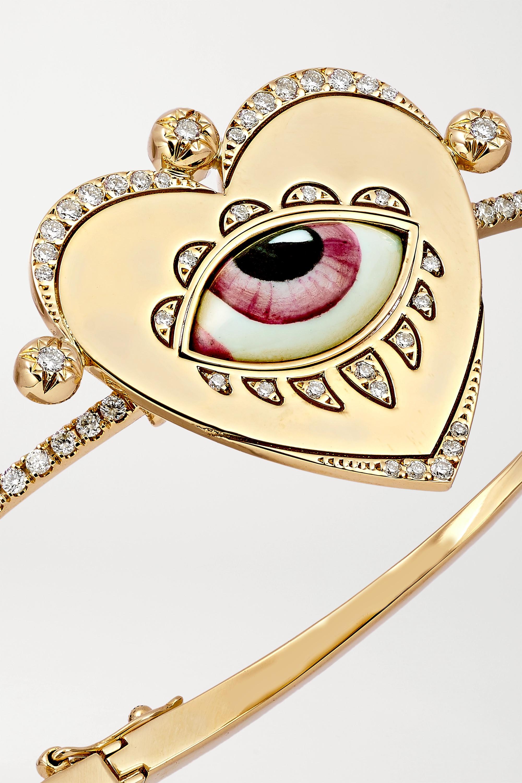 Lito Bracelet en or 14 carats, émail et diamants x Racil