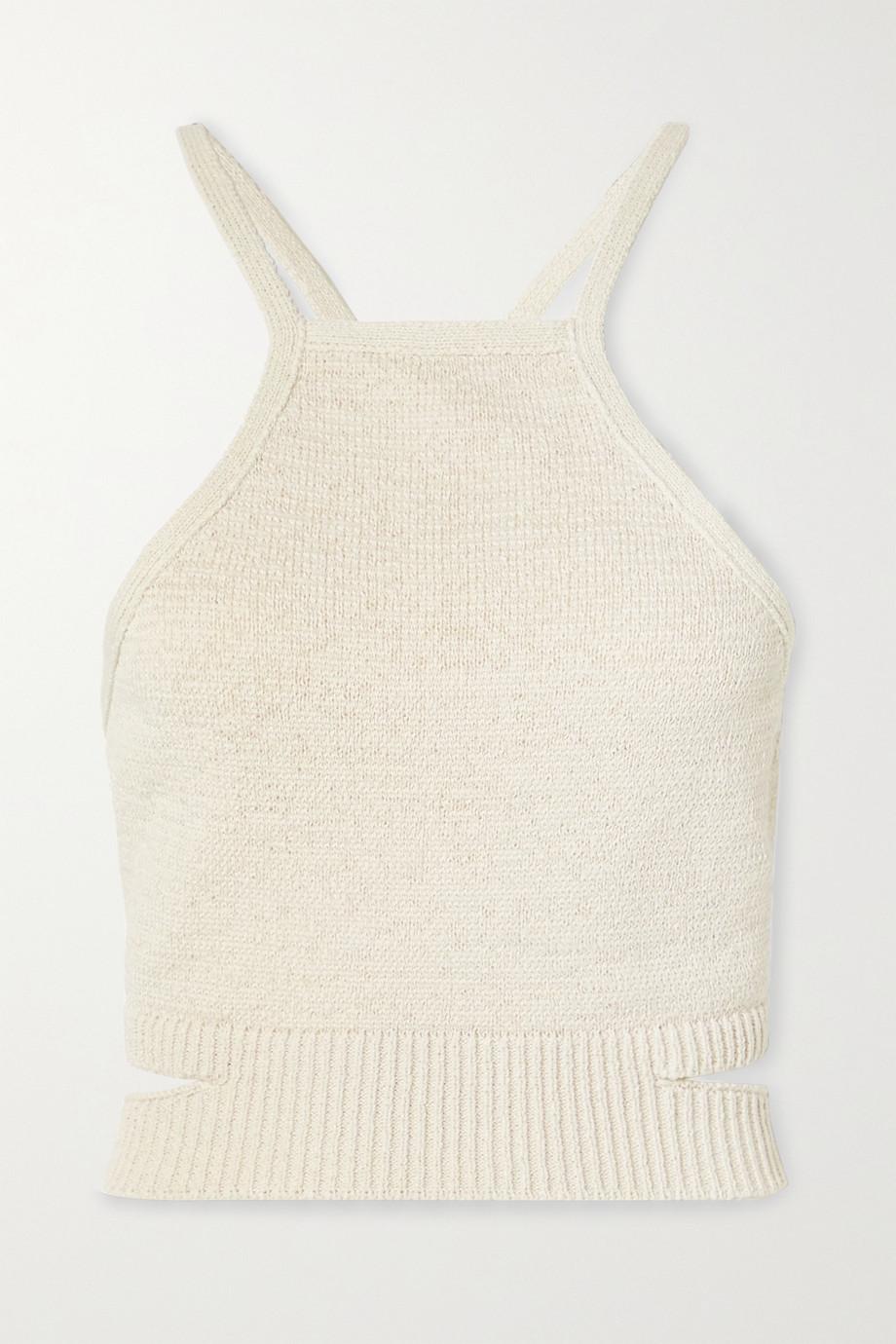 Cult Gaia Nan open-back cotton-blend halterneck top