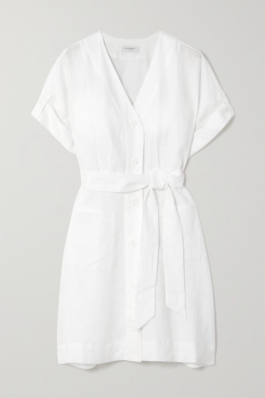 EQUIPMENT Bernyce belted linen mini dress