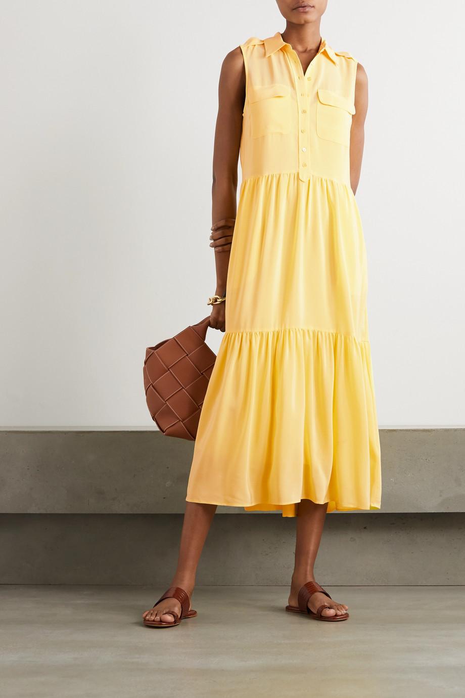 EQUIPMENT Allix washed-silk midi shirt dress